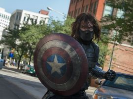 Sebastian Stan stars as the Winter Soldier in Marvel's Captain America: The Winter Soldier