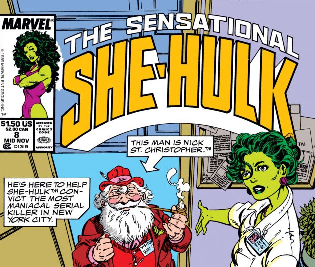 Cover for SENSATIONAL SHE-HULK 8