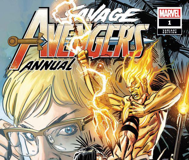 SAVAGE AVENGERS ANNUAL 1 GARNEY VARIANT #1