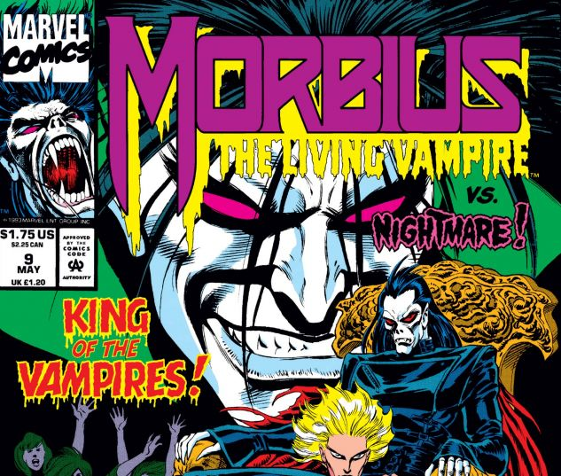 cover from Morbius: The Living Vampire (1992) #9