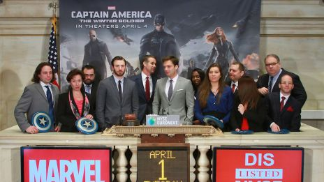 Captain America NYSE Bell Ringing