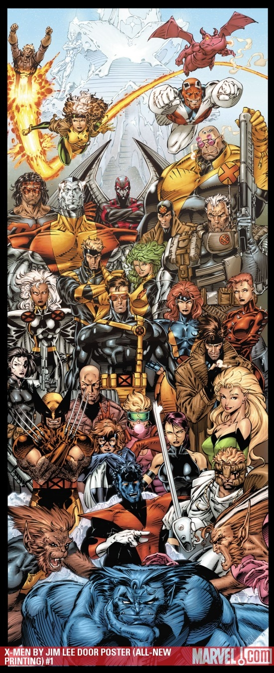 X-Men by Jim Lee Door Poster (All-New Printing) (2009) #1