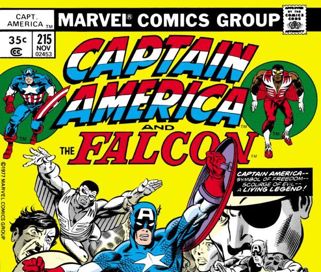 Captain America (1968) #215 Cover