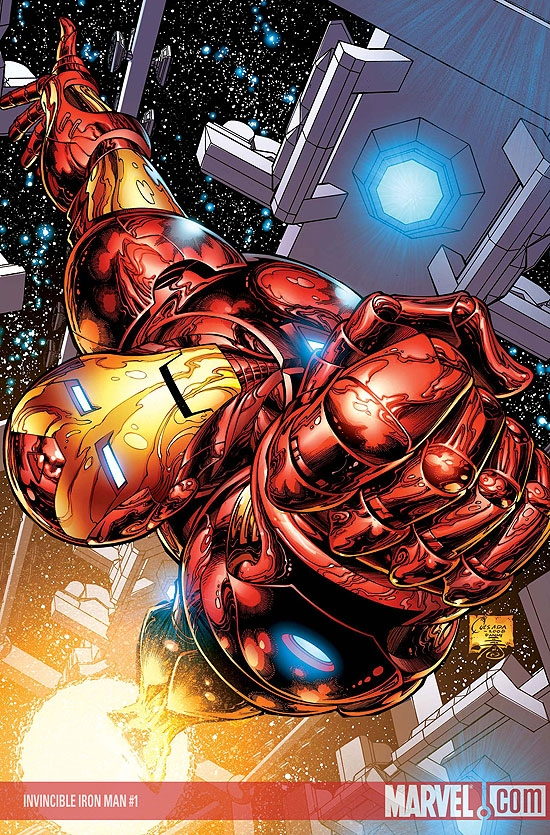 Invincible Iron Man (2008) #1 (Quesada Variant)