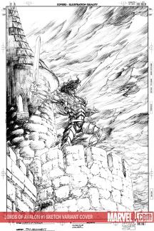 Lords of Avalon: Sword of Darkness (2008) #1 (Sketch Variant)