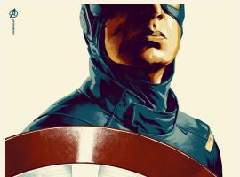Marvel's The Avengers Captain America poster by Phantom City Creative for Mondo