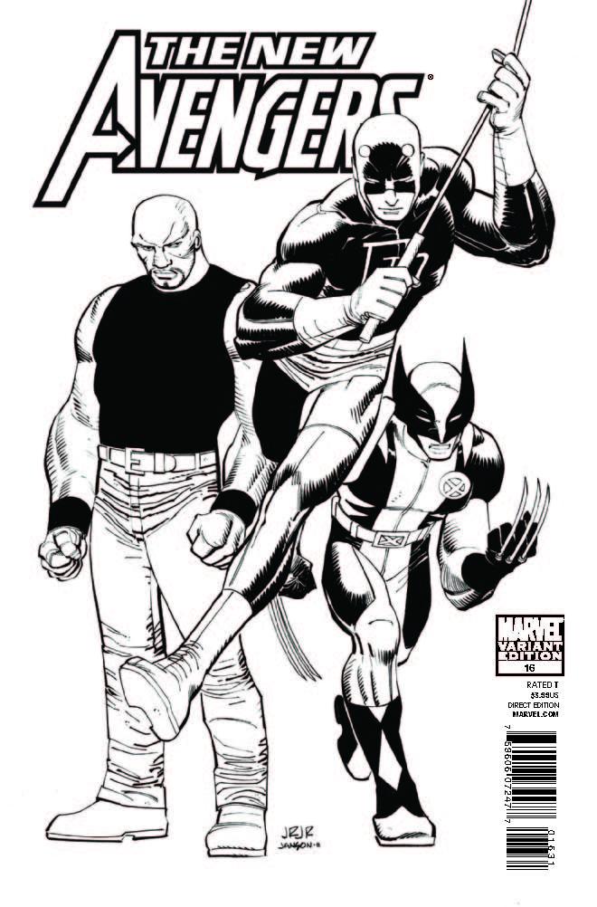 New Avengers (2010) #16 (Architect Sketch Variant)