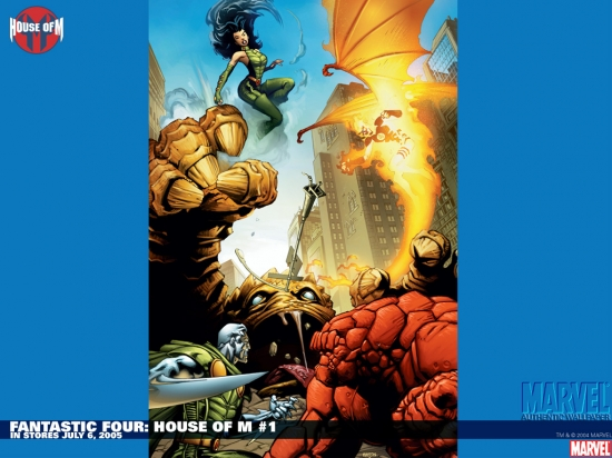 Fantastic Four: House of M (2005) #1 Wallpaper