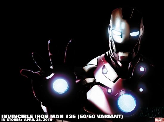 Invincible Iron Man #25 variant cover by Salvador Larroca
