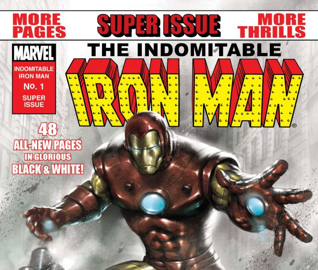Indomitable Iron Man Black and White (2010) #1