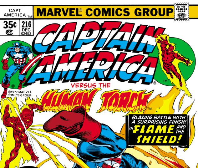 Captain America (1968) #216 Cover