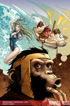 Incredible Hercules (2008) #121 (MONKEY VARIANT (1 FOR 10))