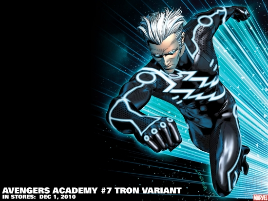 Avengers Academy #7 Tron variant by Brandon Peterson