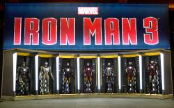 The Iron Man 3 Hall of Armor at the Marvel Booth at San Diego Comic-Con 2012
