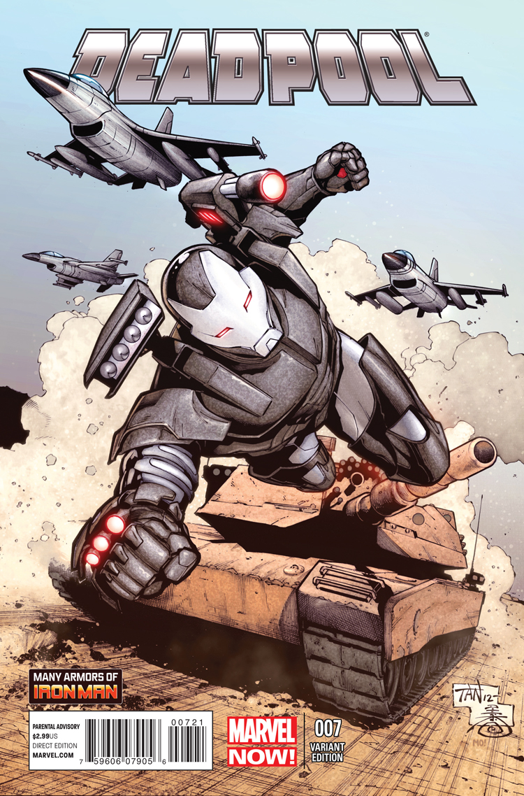 Deadpool (2012) #7 (Tan Iron Man Many Armors Variant)