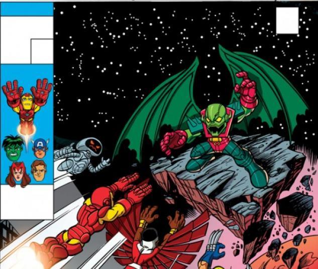INVINCIBLE IRON MAN #30 SUPER HERO SQUAD VARIANT cover by Leonel Castellani