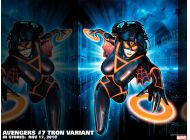 Avengers #7 TRON Variant, featuring Spider-Woman