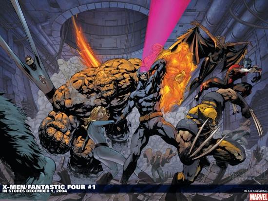 X-Men/Fantastic Four (2004) #1 Wallpaper