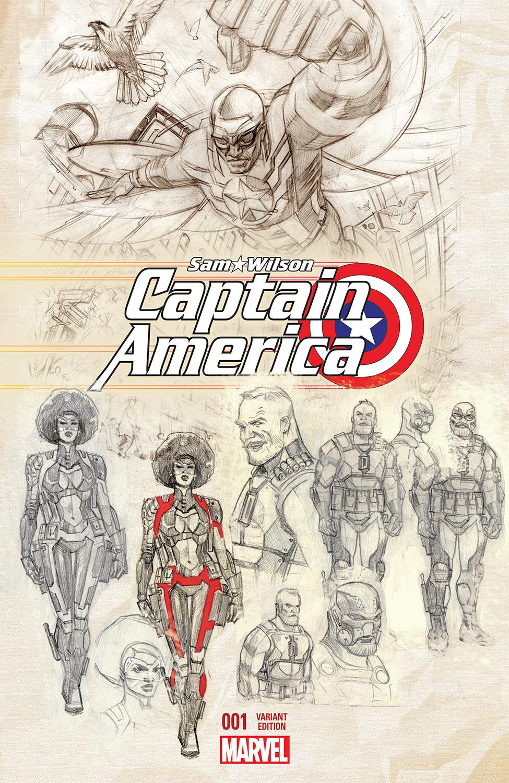 Captain America: Sam Wilson (2015) #1 (Acuna Variant)
