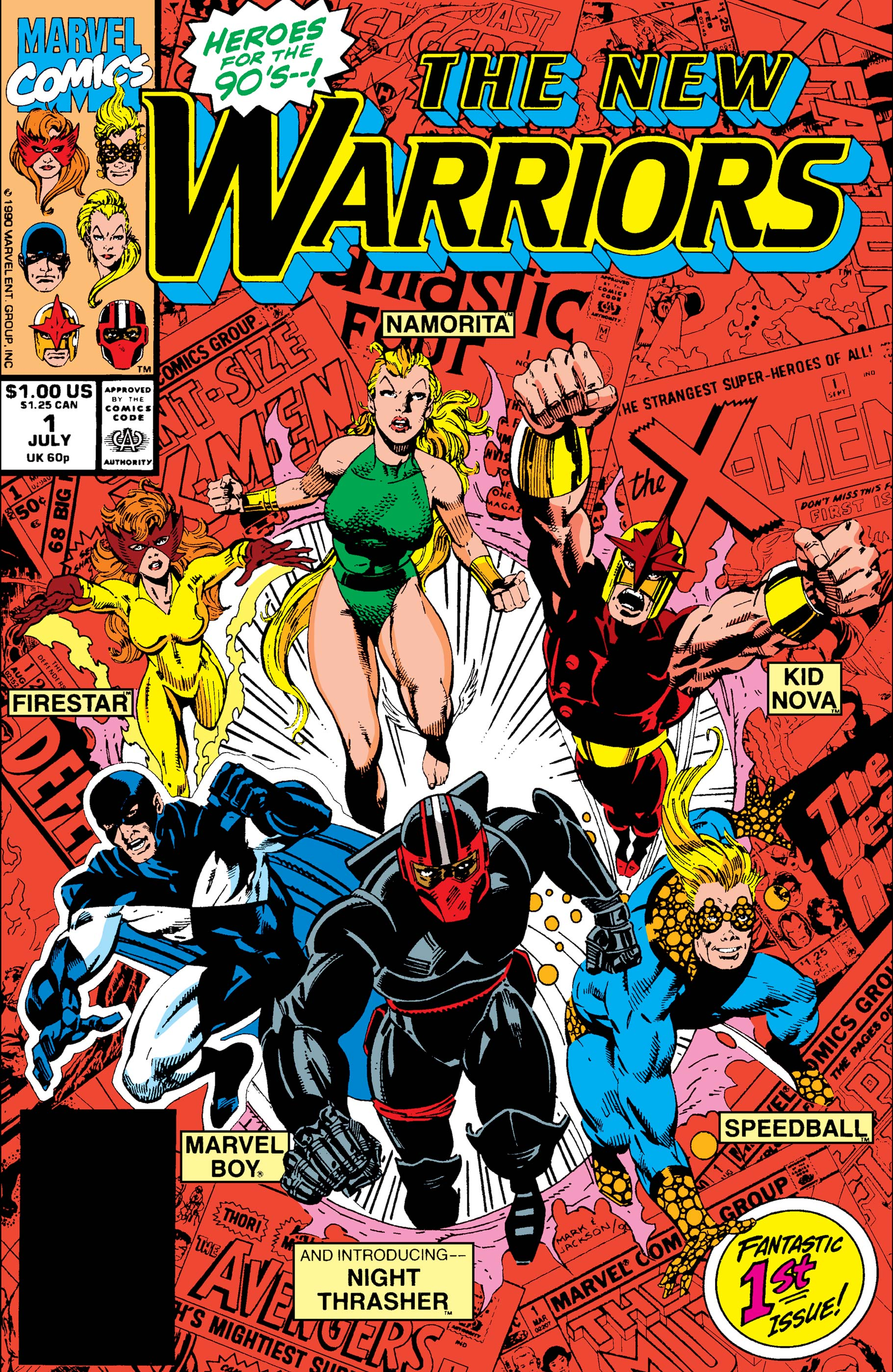New Warriors (1990) #1 | Comic Issues | Marvel