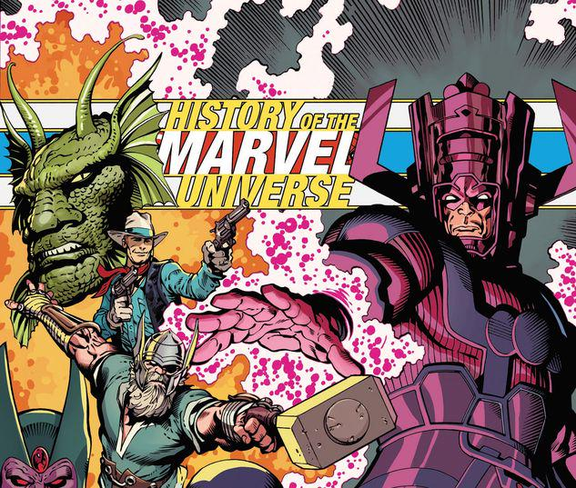 HISTORY OF THE MARVEL UNIVERSE TREASURY EDITION TPB MCNIVEN COVER #1