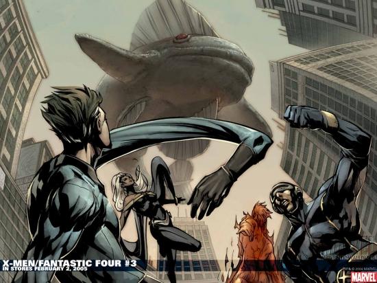X-Men/Fantastic Four (2004) #3 Wallpaper