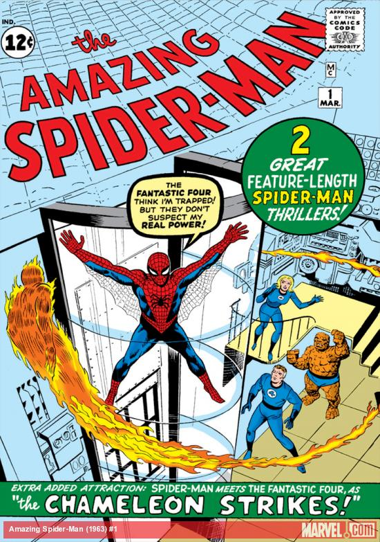 spiderman series comic book cover