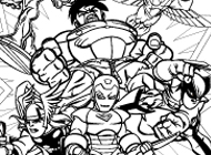 hero squad coloring pages - photo#42