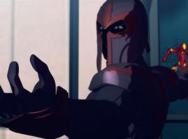 Magneto attacks Iron Man in Iron Man: Armored Adventures