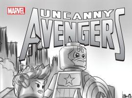 UNCANNY AVENGERS 12 CASTELLANI LEGO SKETCH VARIANT (NOW, WITH DIGITAL CODE)