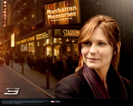 Spider-Man 3 Movie: Mary Jane with Theatre Background