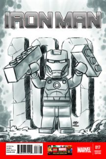 Iron Man (2012) #17 (Castellani Lego Sketch Variant)
