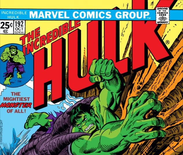 Incredible Hulk (1962) #192 Cover