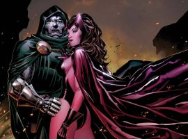 Doctor Doom & Scarlet Witch by Jim Cheung