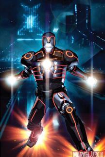 Invincible Iron Man (2008) #33 (Tron Variant)