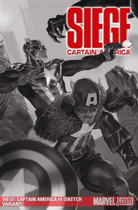 Siege: Captain America (2010) #1 (SKETCH VARIANT)