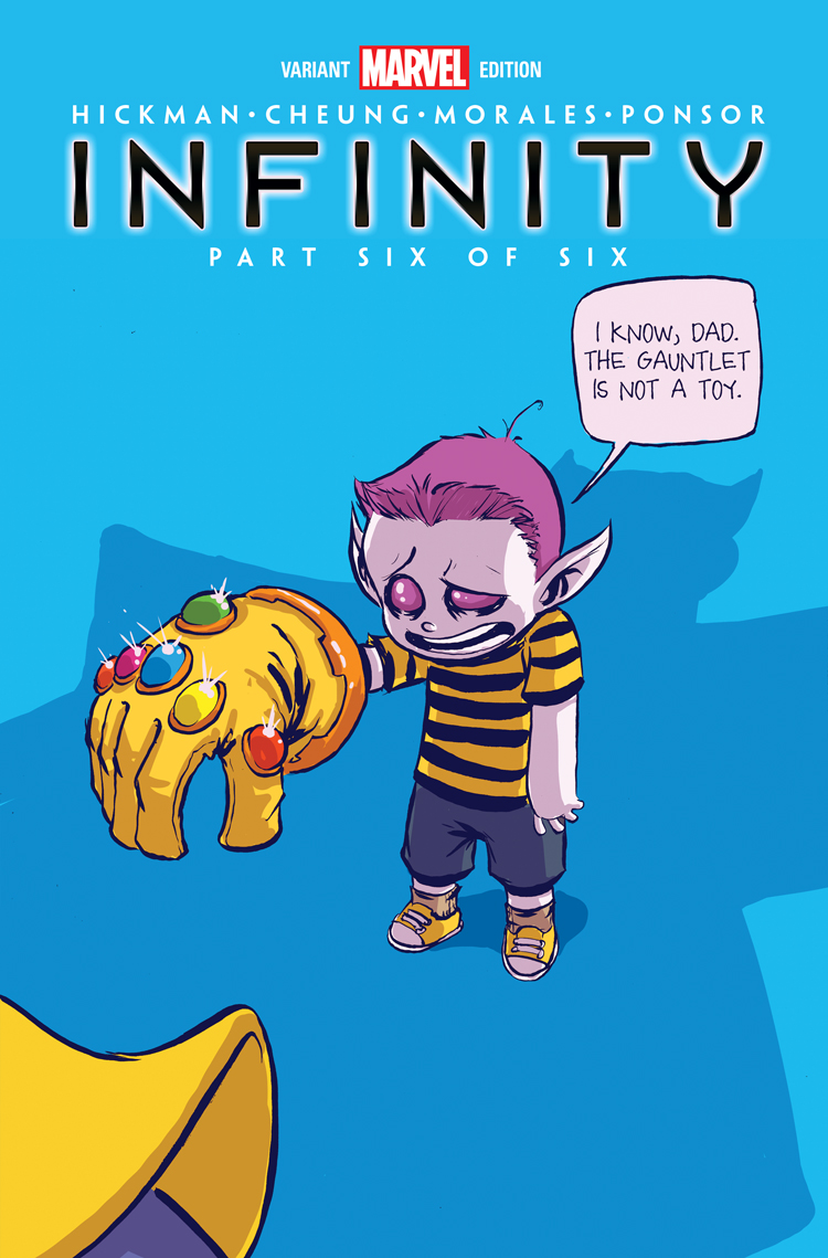Infinity #2 Skottie Young Variant Marvel 2013 Thanos COVER E HICKMAN