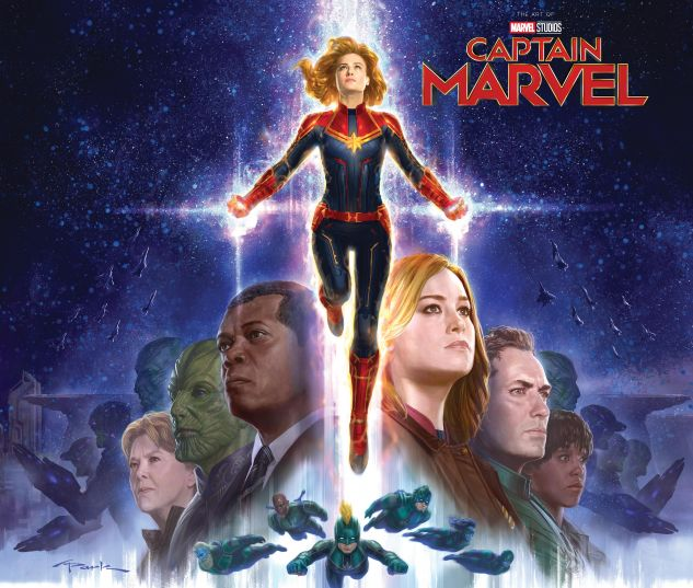 cover from MARVEL'S CAPTAIN MARVEL: THE ART OF THE MOVIE HC (2019) #1