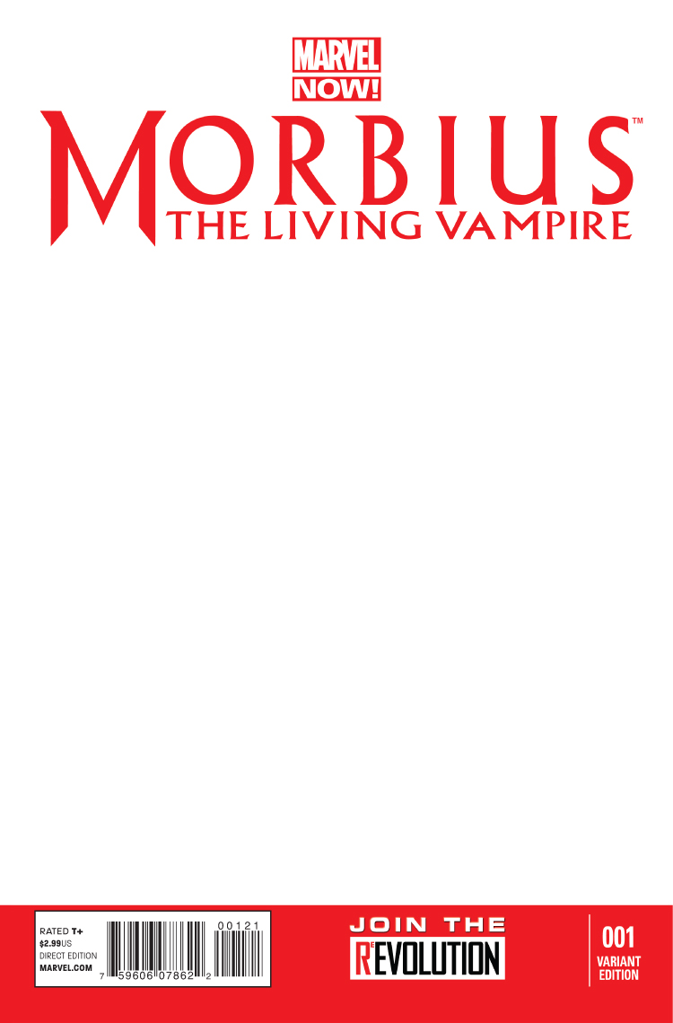 Morbius: The Living Vampire (2013) #1 (Blank Cover Variant)