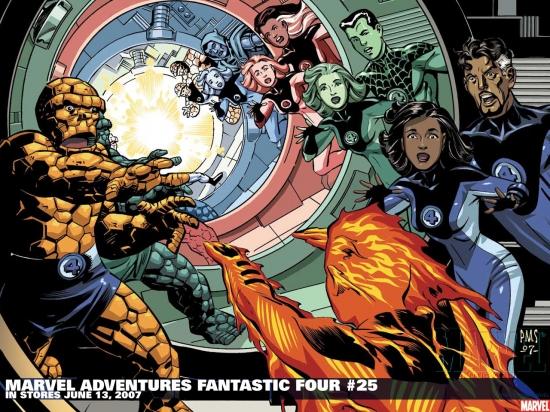 Marvel Adventures Fantastic Four (2005) #25 Wallpaper