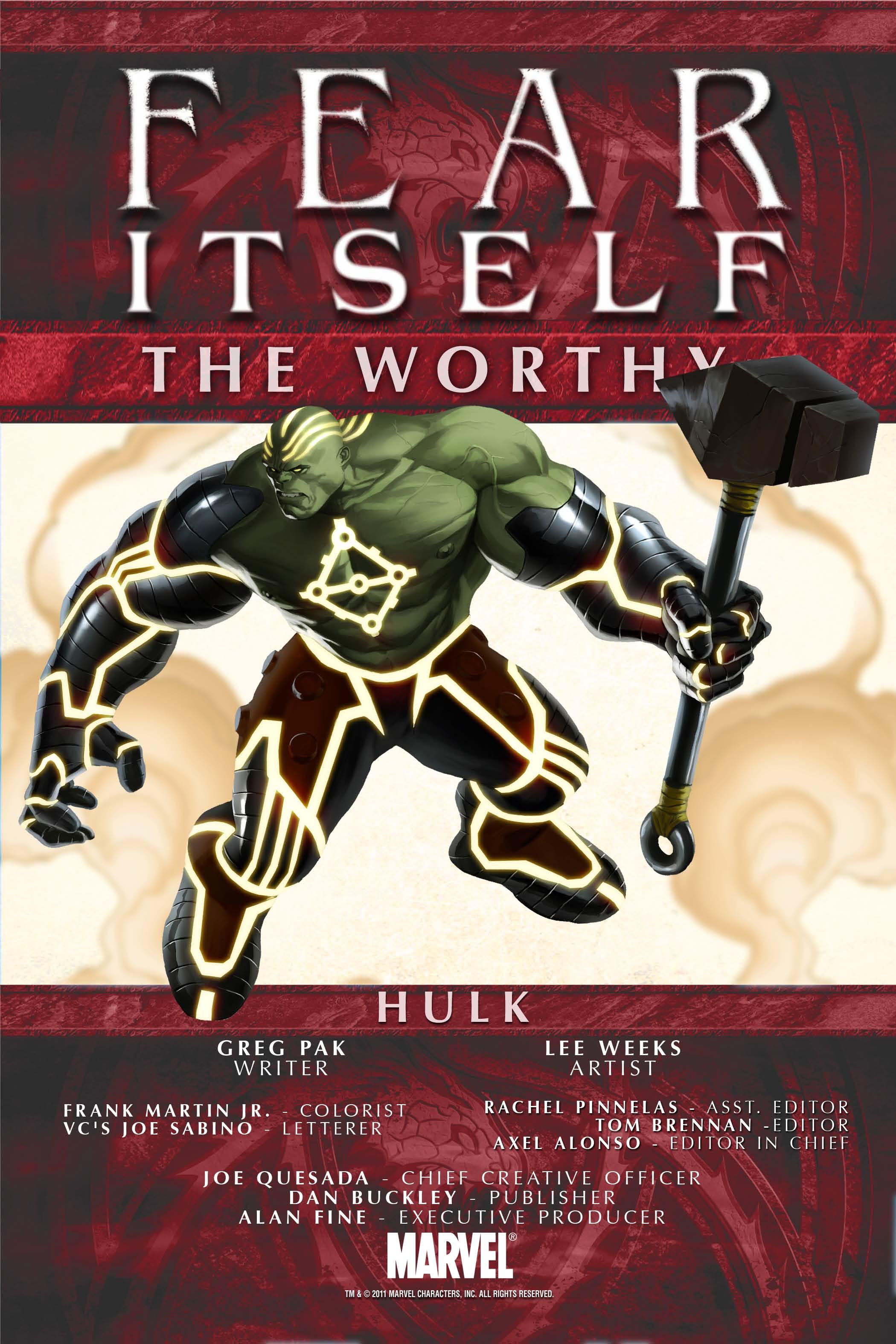 Fear Itself: The Worthy (2011) #5