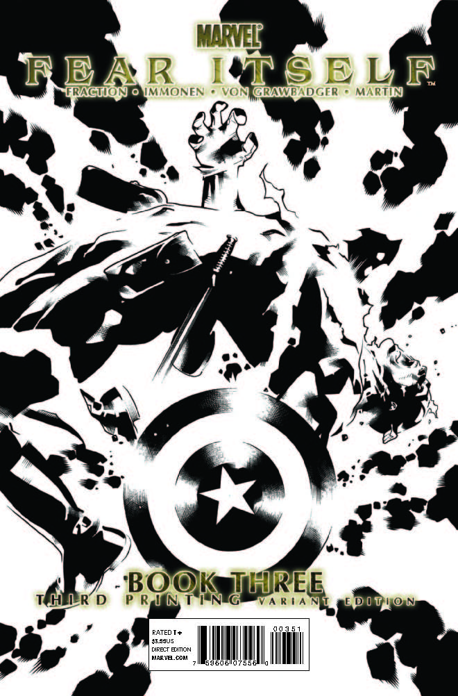 Fear Itself (2010) #3 (3rd Printing Variant)