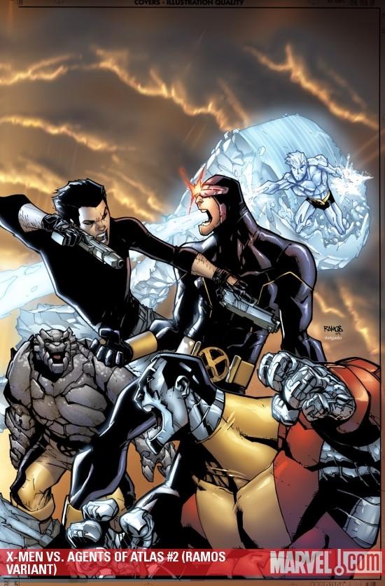 X-Men Vs. Agents of Atlas (2009) #2 (RAMOS VARIANT)