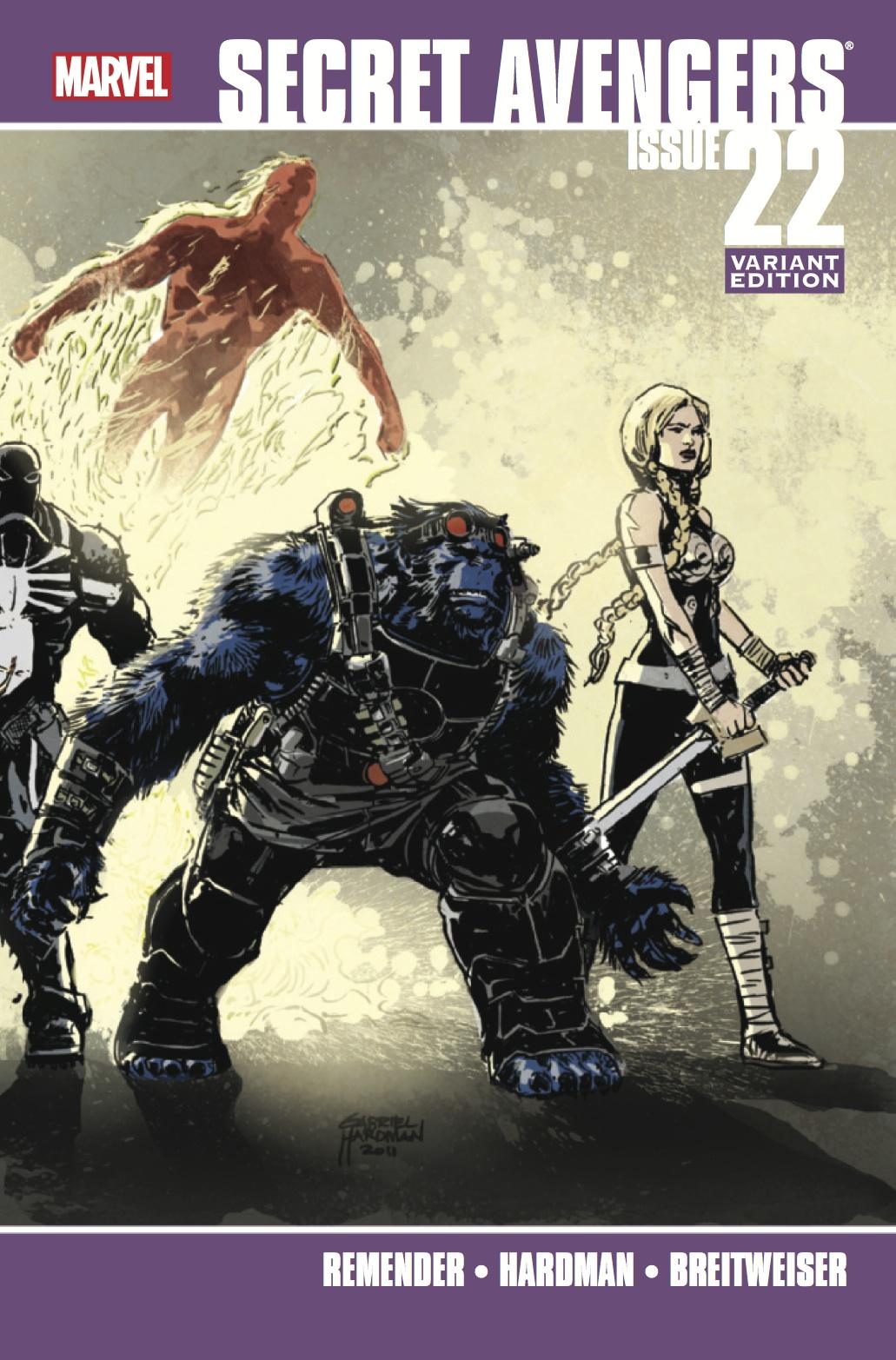 Secret Avengers (2010) #22 (Hardman Variant)
