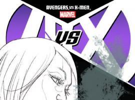 AVENGERS VS. X-MEN 7 PICHELLI SKETCH VARIANT (1 FOR 200, WITH DIGITAL CODE)