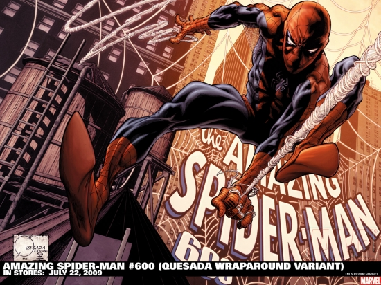 Amazing Spider-Man #600 variant cover by Joe Quesada