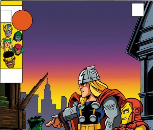 NEW AVENGERS #4 SUPER HERO SQUAD VARIANT cover by Leonel Castellani