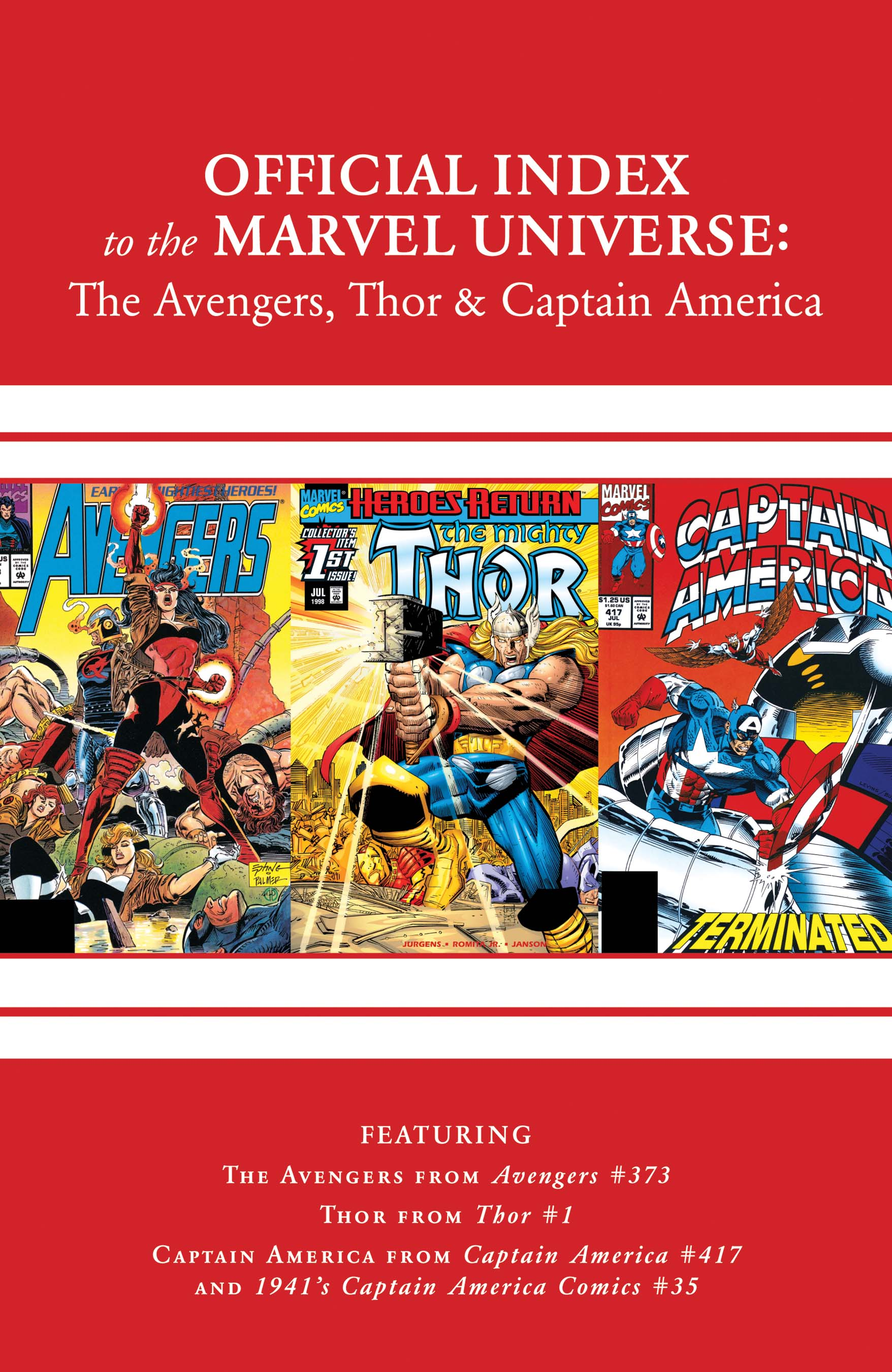 Avengers, Thor & Captain America: Official Index to the Marvel Universe (2010) #11