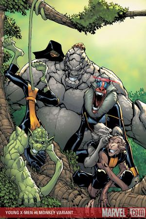 Young X-Men (2008) #6 (MONKEY VARIANT (1 FOR 10))