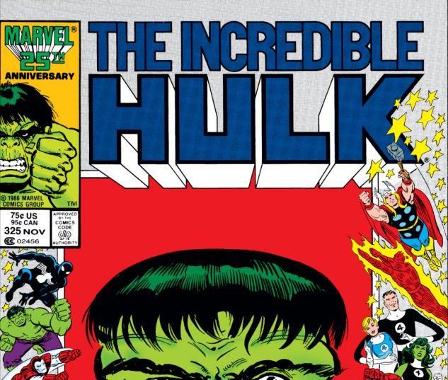 Incredible Hulk (1962) #325 Cover